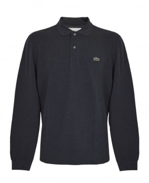 Lacoste Charcoal Marl Classic Fit L.13.13 Long Sleeve Polo