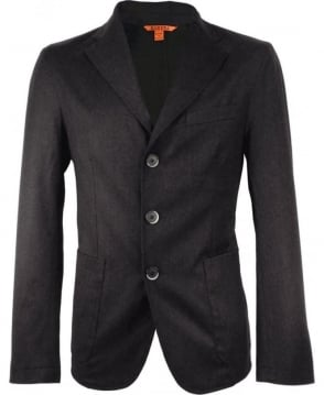 Barena Charcoal Toppa 15 Three Button Jacket