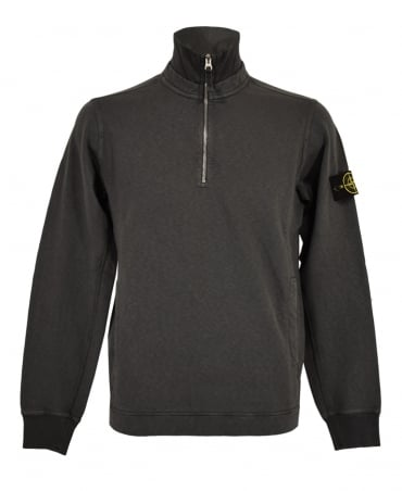 Stone Island Charcoal Zip Up 60461 Sweatshirt