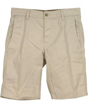 Replay Chino Shorts In Light Beige