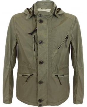 CP Company Chrome ML Goggle Jacket In Green
