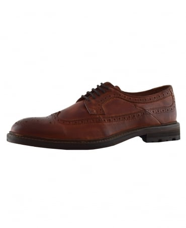 Cognac Agadao Casual Leather Shoe