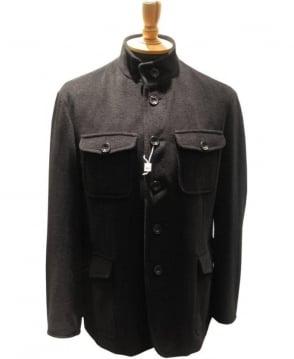Armani Collezioni Collezioni Military Style Jacket