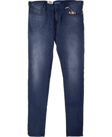 Scotch & Soda Concrete Blue Stretch 'Skim' 100594 Jeans