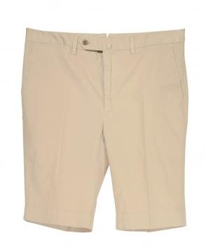 Hackett Core Stretch Shorts In Beige