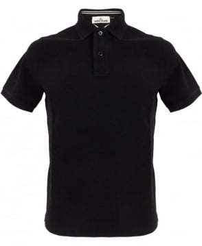 Stone Island Cotton Pique Polo Shirt In Black