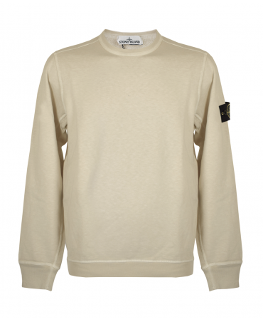 Stone Island Cream Crew Neck Sweatshirt