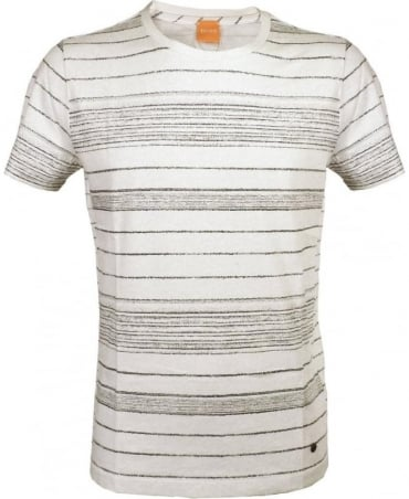 Hugo Boss Cream Striped Tawil T-Shirt