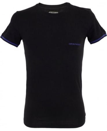 Armani Crew Neck Underwear T-shirt In Black