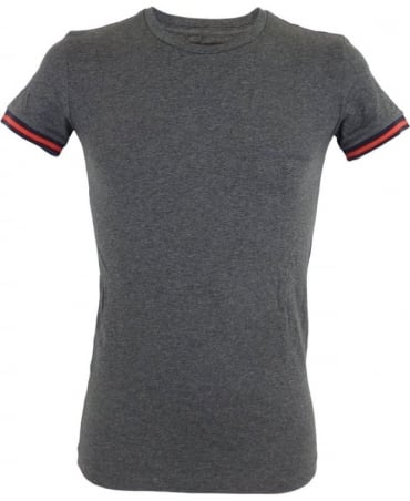 Armani Crew Neck Underwear T-shirt In Dark Grey