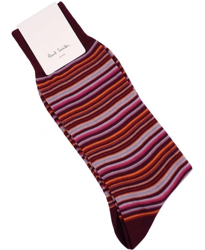Paul Smith - Accessories Damson ALXA/800E/F725 Mini Multi Stripe Socks