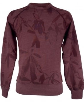 Paul Smith - Jeans Damson JMFJ/782N/656 Leaf Print Crew Neck Sweatshirt