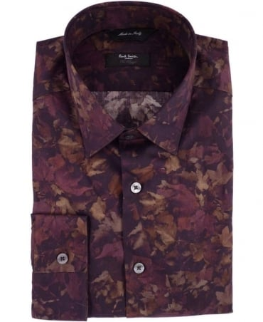 Paul Smith - London Damson Leaf Print Byard Shirt