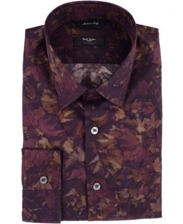 Paul Smith - London Damson Leaf Print Byard Shirt