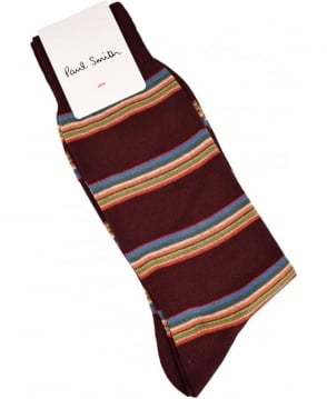 Paul Smith  Damson Multi Stripe Block ASXC/800E/F456 Socks