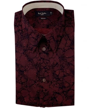 Paul Smith - Jeans Damson Red JNFJ-951N-B32 Pattern Taliored Fit Shirt