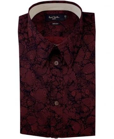 Paul Smith - Jeans Damson Red JNFJ-951N-B32 Pattern Taliored Fit Shirt