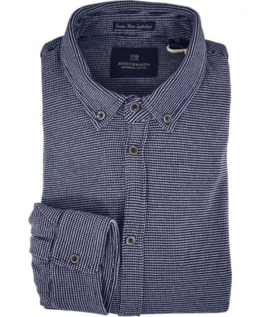 Scotch & Soda Dark Blue 136330 Pique Shirt