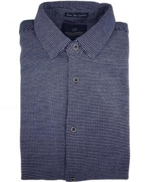 Scotch & Soda Dark Blue 136380 Short Sleeve Pique Shirt