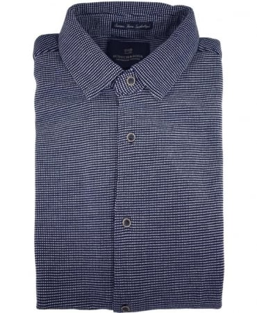 Scotch & Soda Dark Blue 136380 Short Sleeve Pique Shirt