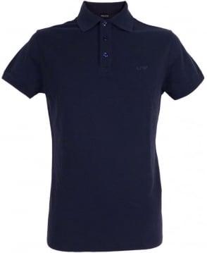Dark Blue 3 Buttoned Armani Jeans Polo