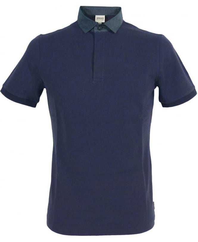 Armani Collezioni Dark Blue 3XCF57 Short Sleeve Polo