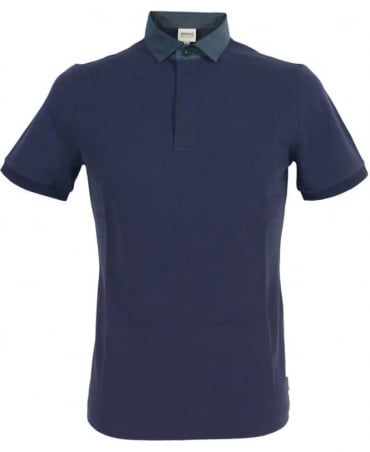 Armani Dark Blue 3XCF57 Short Sleeve Polo