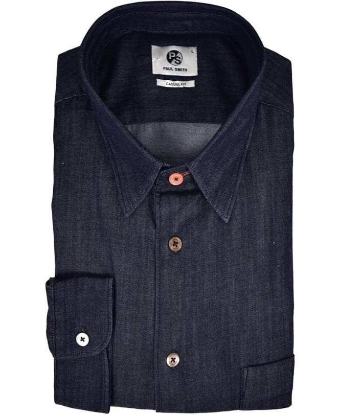 PS Paul Smith Dark Blue Casual Fit Shirt