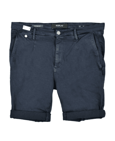 e178389e69d19 Dark Blue Chino Hyperflex Lehoen Shorts