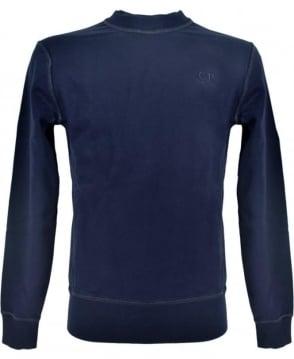 CP Company Dark Blue Crew Neck 0322300 Sweatshirt