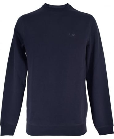Armani Dark Blue Crew Neck 8N6M19 Sweatshirt