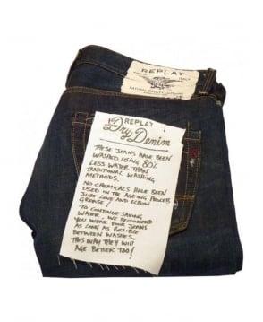 Replay Dark Blue & Distress Jeans