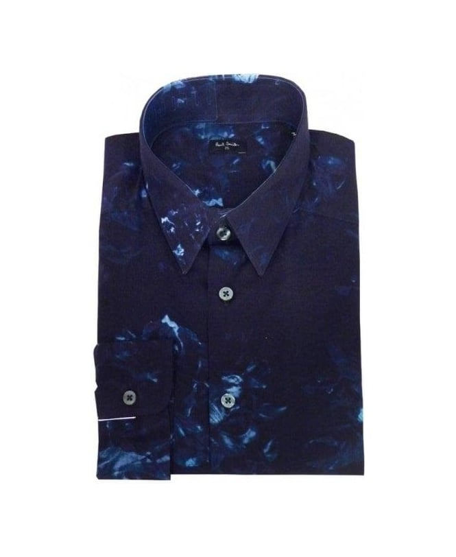 Paul Smith Dark Blue Floral Shirt