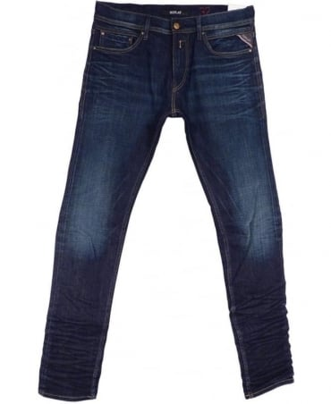 Replay Dark Blue Jondrill Skinny Fit Jeans