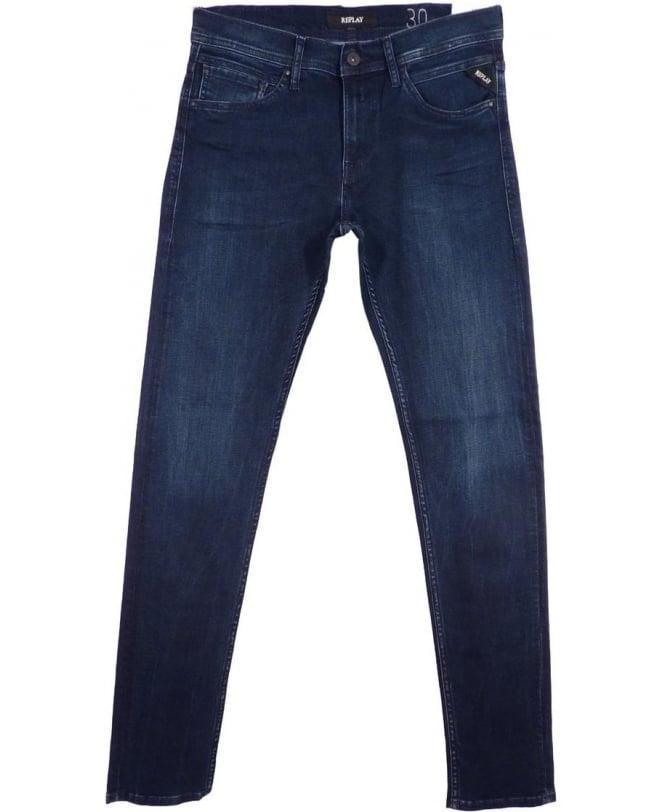 Replay Dark Blue Jondrill Skinny Fit Jeans