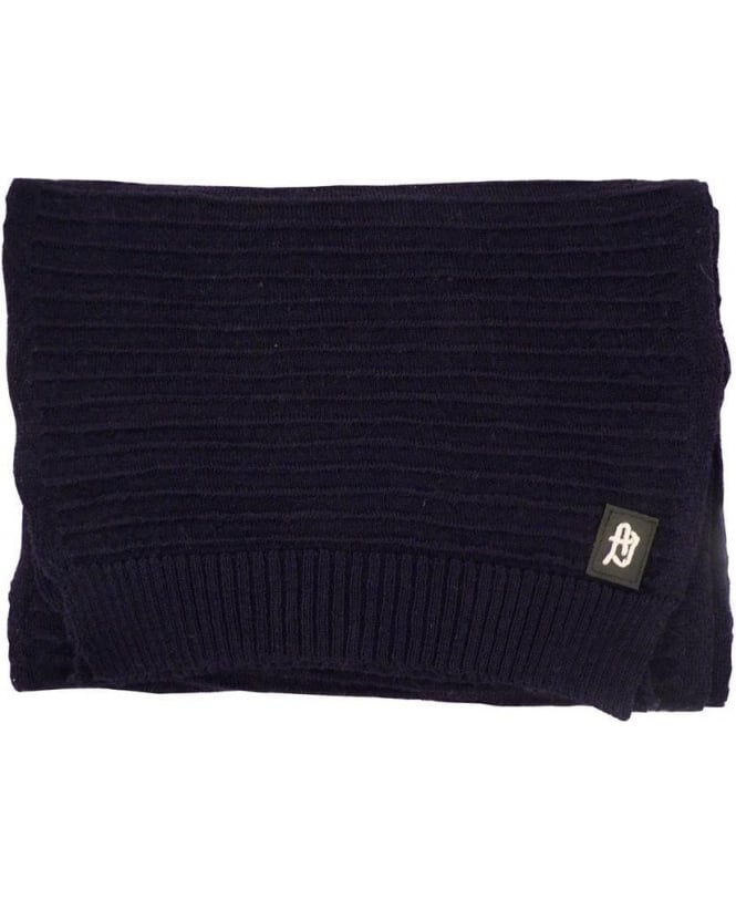 Armani Dark Blue Knitted B6460E9 Scarf