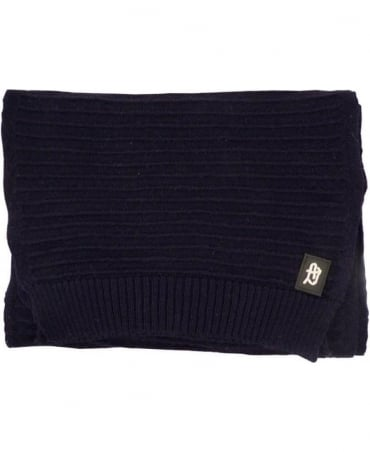 Dark Blue Knitted B6460E9 Scarf