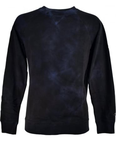 Diesel Dark Blue Mottled Finish S-Bros Sweatshirt