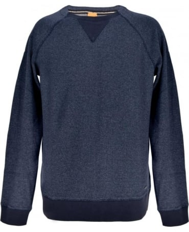 Hugo Boss Dark Blue Mottled 'Warys' Sweatshirt