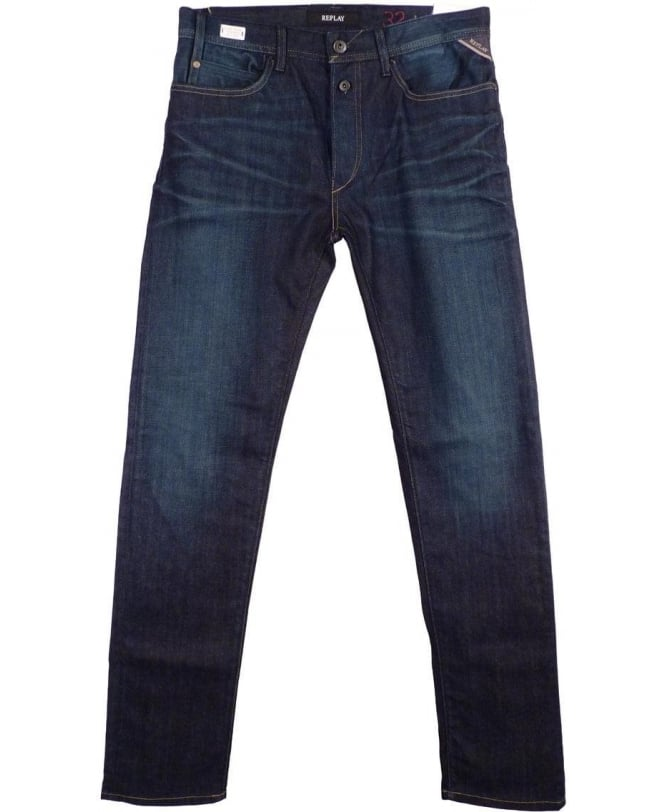 Replay Dark Blue RBJ.901 Tapered Fit Jeans - Jeans from Jonathan Trumbull UK