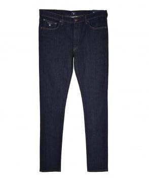 Gant Dark Blue Regular Fit Straight 1315009 Jeans