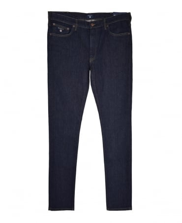 Gant Dark Blue Regular Fit Straight 1315009 Jeans