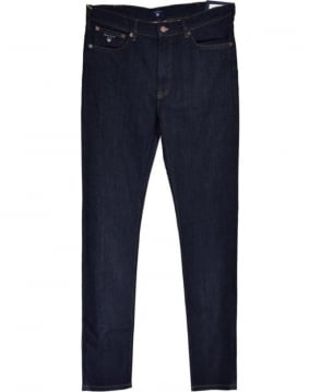 Gant Dark Blue Regular Straight Fit Jean