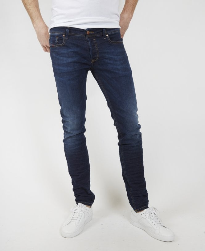 d3eff525 Diesel Dark Blue Sleenker 084RI Skinny Jean - Jeans from Jonathan ...