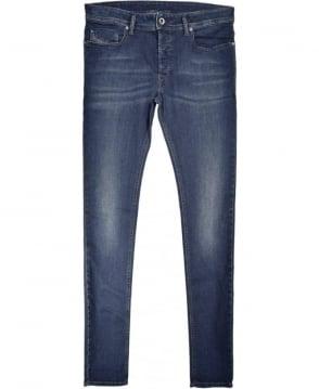 Diesel Dark Blue Sleenker Skinny Stretch Jean