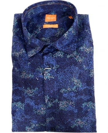 Hugo Boss Dark Blue Speckled Pattern ExtremeE Shirt