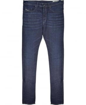 Diesel Dark Blue Tapered Buster Stretch Jean