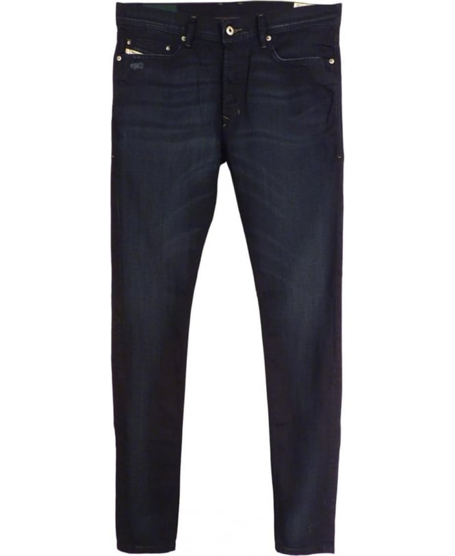 Diesel Dark Blue Tepphar 0848D Stretch Slim Carrot Jeans