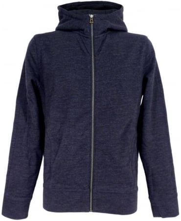 Dark Blue Ztadium 50296308 Zip Through Hooded Sweatshirt
