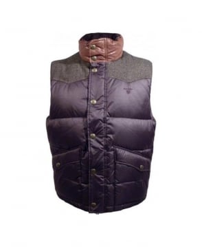 Gant Dark Brown A.S Gilet
